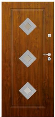Drzwi Delta przeszklenie karo 3 inox