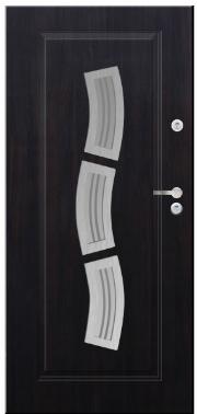 Drzwi Delta przeszklenie fala inox