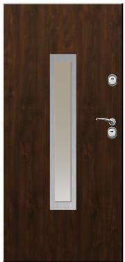 Drzwi Delta przeszklenie prostokąt inox