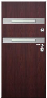 Drzwi Delta przeszklenie linea 2 inox