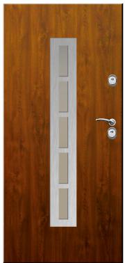 Drzwi Delta przeszklenie drabinka inox