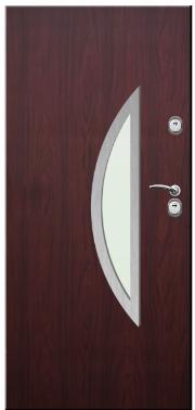 Drzwi Delta przeszklenie łuk pionowy inox