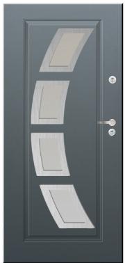 Drzwi Delta przeszklenie lima 4 inox
